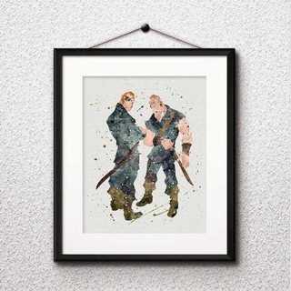 ディズニー(Disney)のスタビントン兄弟(塔の上のラプンツェル)アートポスター【額縁つき・送料無料!】(ポスター)