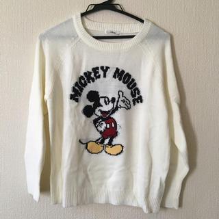 ディズニー(Disney)のニット ミッキー  ディズニー ホワイト セーター(ニット/セーター)