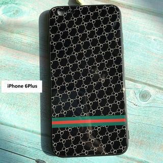 iPhone6PLUS ケース ブラック  モノグラム柄  即購入OK!(iPhoneケース)