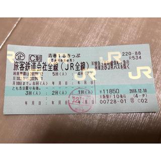 ジェイアール(JR)の青春18きっぷ、青春十八切符、4回分(鉄道乗車券)