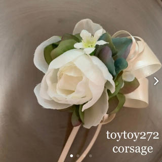 toytoy272 小ぶりなコサージュ 髪飾り 卒業 入学 セレモニー 発表会(コサージュ/ブローチ)