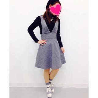 ジーユー(GU)のGU 2WAYハイウエストジャンドレ ジャンバースカート(ひざ丈ワンピース)