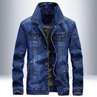 新作 メンズ高品質 デニムジャケット かっこいい ブルー(Gジャン/デニムジャケット)
