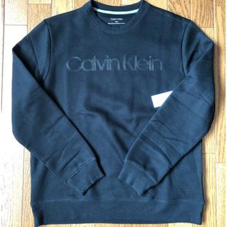 カルバンクライン(Calvin Klein)のラスト1点 新品タグ付き カルバンクライン スウェット ブラック サイズM (スウェット)