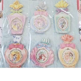 ディズニー(Disney)の ディズニープリンセス/香水瓶風メモ帳セット  (ノート/メモ帳/ふせん)