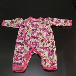 シマムラ(しまむら)のベビー ロンパース 60~70㎝ ディズニー 女の子 バースデイ 冬服 ピンク(ロンパース)