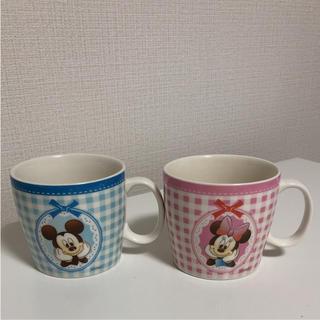 ディズニー(Disney)のペアマグカップ ミッキー&ミニー(グラス/カップ)
