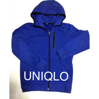 ユニクロ(UNIQLO)の綺麗なブルーのパーカー✨美品‼️(パーカー)