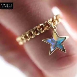 VINT 大スター クリスタル 4ミリ リング/指輪(リング(指輪))