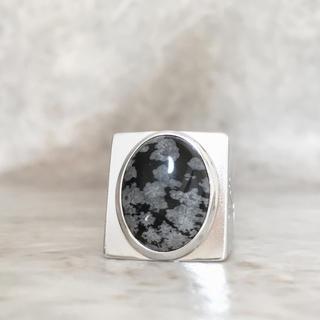 ルイヴィトン(LOUIS VUITTON)の正規品 ヴィトン 指輪 シュバリエール M64903 スノーフローリング 黒曜石(リング(指輪))