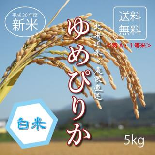 1等米!特A米!新米ゆめぴりか お米5kg お米 米 ブランド米 農家直送(米/穀物)