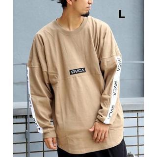 ルーカ(RVCA)のL ベージュ RVCA TAPE LOGO ロンTシャツ ルーカ(Tシャツ/カットソー(七分/長袖))