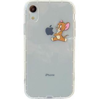 トムとジェリー iPhone クリアケース 各種サイズ有り ジェリー(iPhoneケース)