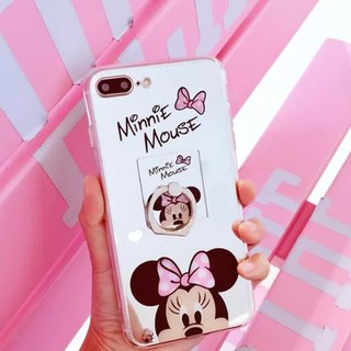 ♡新品未使用♡iPhoneカバー ミニーちゃん(ピンク) リングもセット(iPhoneケース)
