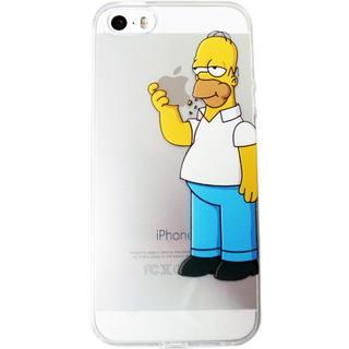 シンプソンズ ホーマー iPhoneケース 透明ソフトケース(iPhoneケース)