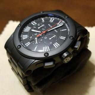 ジャガールクルト(Jaeger-LeCoultre)の極美品ラルフローレンRL★スポーティングクロノ★ジャガールクルト黒セラミック時計(腕時計(アナログ))