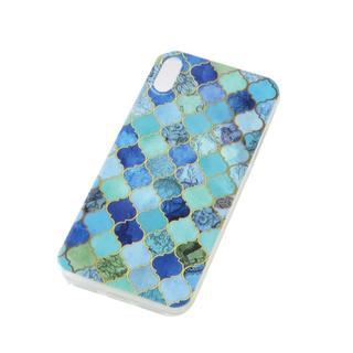 iPhoneX/6/5/SE ブルー 青 モロッカン モザイク ケース カバー(iPhoneケース)