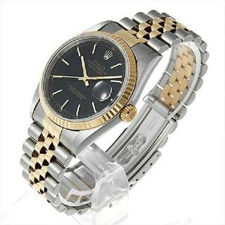 ロレックス(ROLEX)のロレックス デイトジャスト 16233 ブラック/バーメンズ 腕時計(腕時計(アナログ))