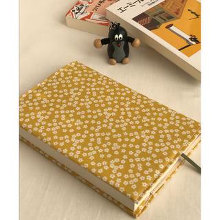 岩波少年文庫用 ブックカバー    マスタードに小花(ブックカバー)
