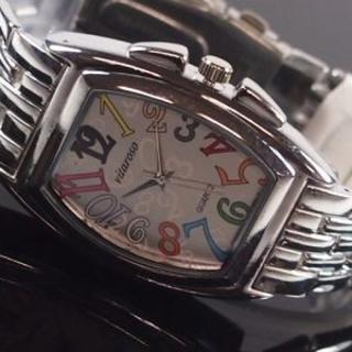メンズ腕時計 メタルウォッチクロノデザイン白マルチVT5000M ws_002(腕時計(アナログ))