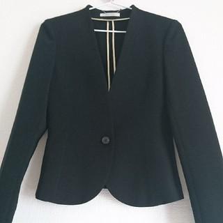 エストネーション(ESTNATION)のBEIGE ベイジ 黒セットアップ スカート スーツ トゥモローランド セオリー(スーツ)