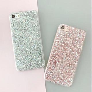 iPhone7/8 〔ピンク〕 ホログラム グリッター ラメ ソフトケース(iPhoneケース)