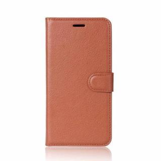 ブラウン  iPhone7/8 ★手触りのよい カード収納 手帳型カバー(iPhoneケース)