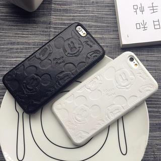 【新品・送料無料】ディズニー iPhone レザーケース ミッキーマウス (iPhoneケース)