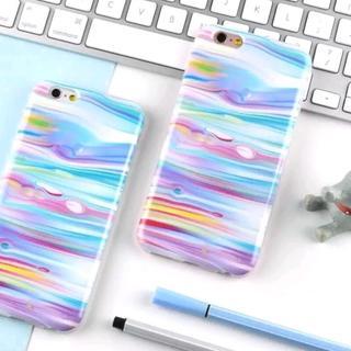 iPhone6 iPhone6s マーブル 水絵画調 カラフル ケース(iPhoneケース)