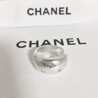 シャネル(CHANEL)の正規品 シャネル 指輪 シルバー アルファベット 銀 幅広 SV 925 リング(リング(指輪))