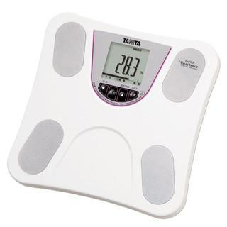 ☆乗るだけ簡単☆ タニタ体重計 ホワイト ダイエット(体重計/体脂肪計)