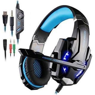 ゲームヘッドフォン(ブラック+ブルー),(ヘッドフォン/イヤフォン)
