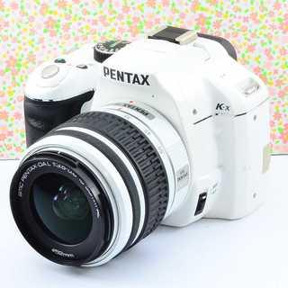 ✨Wifi&小ぶりで可愛いホワイト✨ペンタックス K-x レンズセット(デジタル一眼)