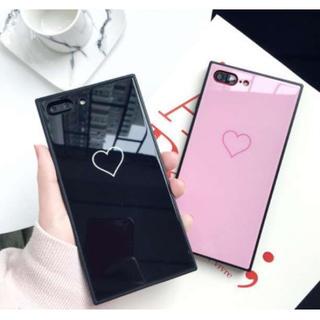 アイフォンケース  韓国 人気 ハート スクエア(iPhoneケース)