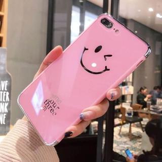 ピンク ウィンク スマイル iPhone7 iPhone8 ハード(iPhoneケース)