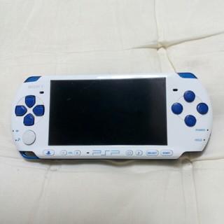 プレイステーションポータブル(PlayStation Portable)のpsp3000 本体 ホワイトブルー(携帯用ゲーム本体)