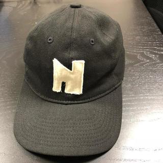 ナイキ(NIKE)の激レアナイキNIKEヴィンテージキャップ ゴツナイキ Nロゴ cap 黒(キャップ)
