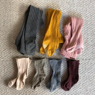 シマムラ(しまむら)のタイツ3枚 & ソックス4枚セット(靴下/タイツ)