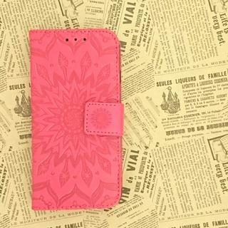 iPhoneSE/5/5s 用手帳型ケース★B42レッド(iPhoneケース)