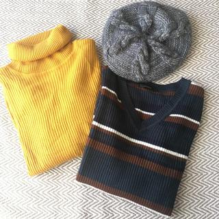 シマムラ(しまむら)のタートルネック ニット ベレー帽(ニット/セーター)