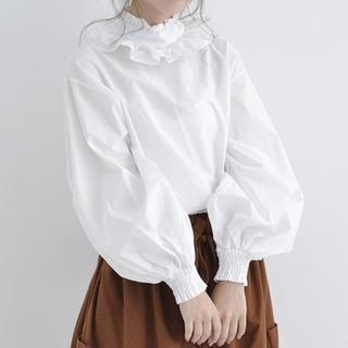 【merlot】フリル襟バルーン袖ブラウス