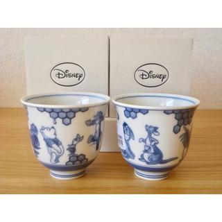 ディズニー(Disney)の波佐見焼 くまのプーさん 湯のみ 2個■湯呑み ディズニー 新品 国産 磁器 (食器)