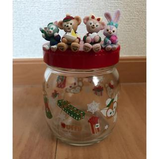 ディズニー(Disney)の2018 クリスマス限定 ダッフィーフレンズ 空き瓶(キャラクターグッズ)