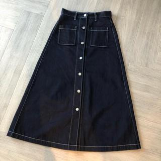 GU - 中古 GU デニムロングスカート デニムスカート