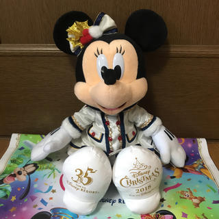 ディズニー(Disney)のディズニーシー イッツクリスマスタイム ミニー ぬいぐるみ(ぬいぐるみ)