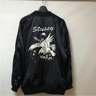 ステューシー(STUSSY)のSTUSSY/スカジャン/XL/ナイロン/リバーシブル/鷹柄(スカジャン)