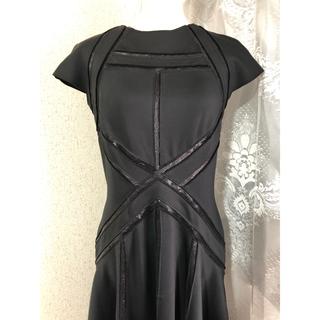 TADASHI SHOJI - 美品 タダシショージ ワンピース ドレス フレア スパンコール