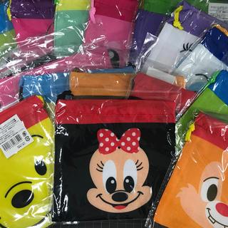 ディズニー(Disney)のディズニー24種類 フェイス巾着 5枚セット(キャラクターグッズ)