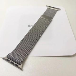 アップルウォッチ(Apple Watch)のアップル純正 ミラネーゼループ Apple Watch 42mm 44mm(金属ベルト)
