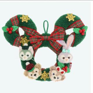 ディズニー(Disney)のパーク完売!激レア✨ダッフィー*クリスマス*リース*2018*新品未使用タグ付き(キャラクターグッズ)